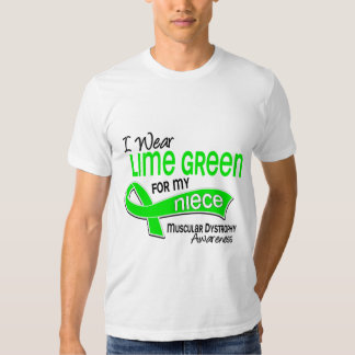 I Wear Lime Green 42 Niece Muscular Dystrophy Tee Shirts