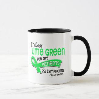 I Wear Lime Green 42 Patients Lymphoma Mug