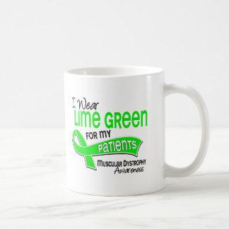 I Wear Lime Green 42 Patients Muscular Dystrophy Mugs