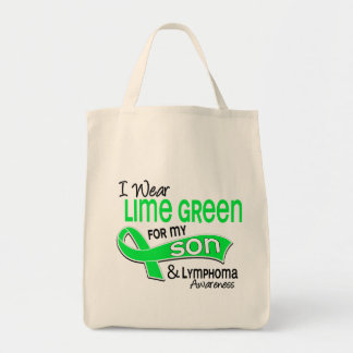 I Wear Lime Green 42 Son Lymphoma Grocery Tote Bag