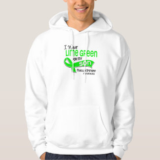I Wear Lime Green 42 Son Muscular Dystrophy Hooded Pullovers