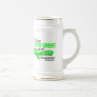 I Wear Lime Green 42 Son Muscular Dystrophy 18 Oz Beer Stein