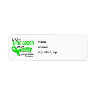 I Wear Lime Green 42 Uncle Lyme Disease Label
