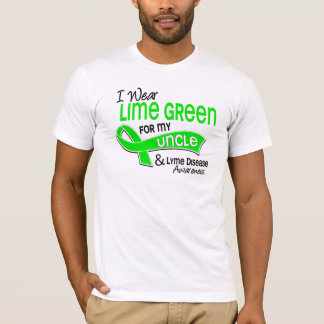 I Wear Lime Green 42 Uncle Lyme Disease T-Shirt