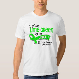 I Wear Lime Green 42 Uncle Lyme Disease Tshirt