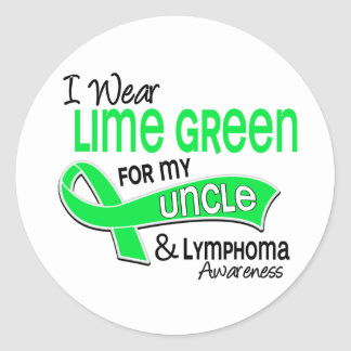 I Wear Lime Green 42 Uncle Lymphoma Classic Round Sticker