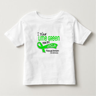 I Wear Lime Green 42 Uncle Muscular Dystrophy Toddler T-shirt