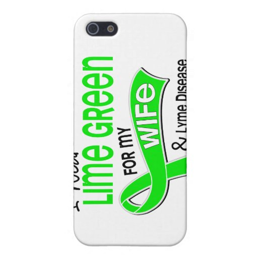 I Wear Lime Green 42 Wife Lyme Disease iPhone 5 Covers