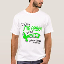 I Wear Lime Green 42 Wife Lyme Disease T-Shirt