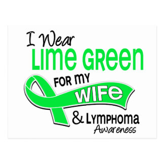 I Wear Lime Green 42 Wife Lymphoma Postcard