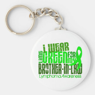 I Wear Lime Green For Brother-In-Law 6.4 Lymphoma Keychain