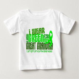 I Wear Lime Green For Great Grandma 6.4 Lymphoma Baby T-Shirt