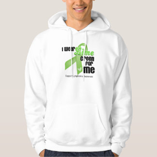 I Wear Lime Green For Me - Lymphoma Hoodie