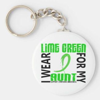 I Wear Lime Green For My Aunt 46 Lymphoma Key Chain