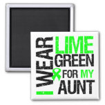 I Wear Lime Green For My Aunt Lymphoma Refrigerator Magnet
