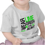 I Wear Lime Green For My Aunt Lymphoma Shirts