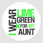 I Wear Lime Green For My Aunt Lymphoma Stickers