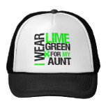 I Wear Lime Green For My Aunt Lymphoma Trucker Hat