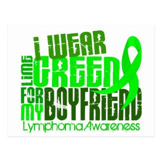 I Wear Lime Green For My Boyfriend 6.4 Lymphoma Postcard