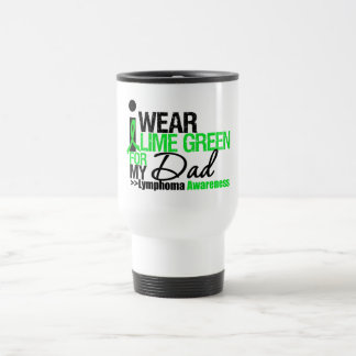 I Wear Lime Green For My Dad 15 Oz Stainless Steel Travel Mug