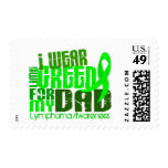 I Wear Lime Green For My Dad 6.4 Lymphoma Stamps