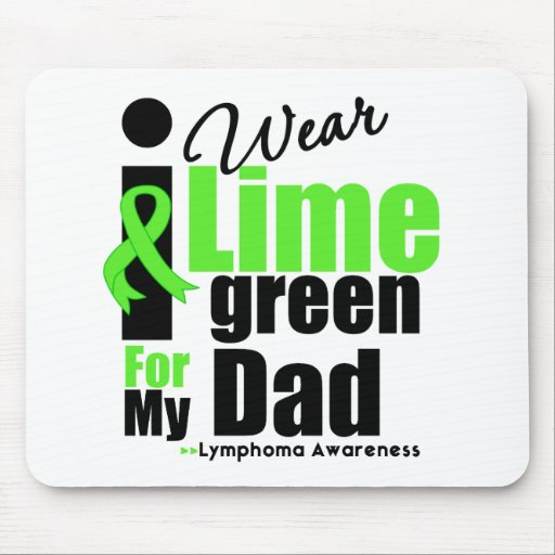 I Wear Lime Green For My Dad Mouse Mat