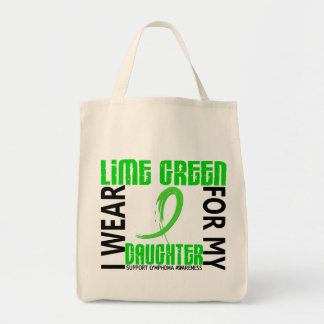 I Wear Lime Green For My Daughter 46 Lymphoma Tote Bag
