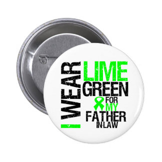 I Wear Lime Green For My Father-in-Law Lymphoma 2 Inch Round Button