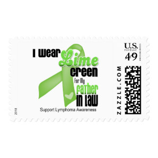 I Wear Lime Green For My Father in Law - Lymphoma Postage Stamp