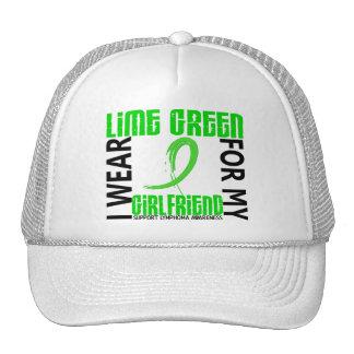 I Wear Lime Green For My Girlfriend 46 Lymphoma Trucker Hats