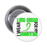 I Wear Lime Green For My Grandfather 46 Lymphoma 2 Inch Round Button