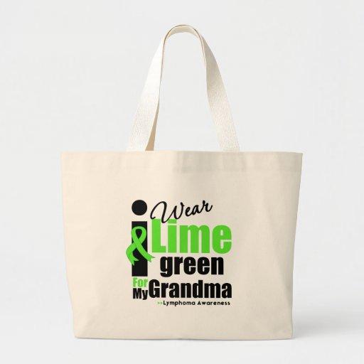 I Wear Lime Green For My Grandma Jumbo Tote Bag