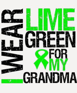 I Wear Lime Green For My Grandma Lymphoma Shirts