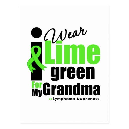 I Wear Lime Green For My Grandma Postcard