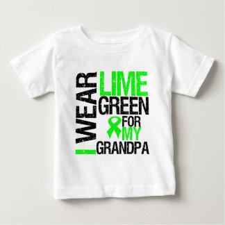 I Wear Lime Green For My Grandpa Lymphoma Baby T-Shirt