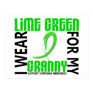 I Wear Lime Green For My Granny 46 Lymphoma Postcard