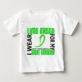 I Wear Lime Green For My Great Grandma 46 Lymphoma Baby T-Shirt