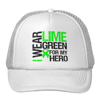 I Wear Lime Green For My Hero - Lymphoma Trucker Hat