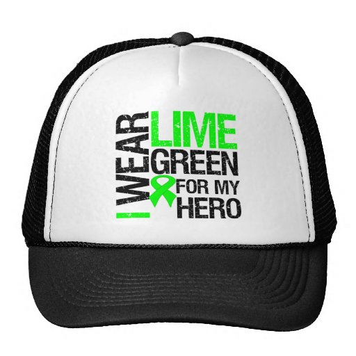 I Wear Lime Green For My Hero - Lymphoma Trucker Hat