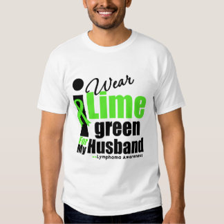 I Wear Lime Green For My Husband T-shirt