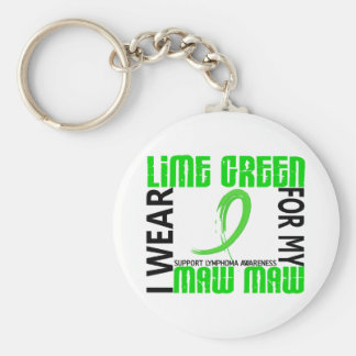 I Wear Lime Green For My Maw Maw 46 Lymphoma Basic Round Button Keychain