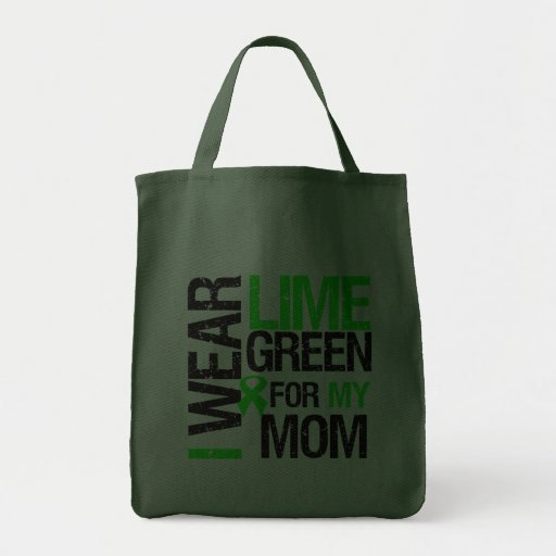 I Wear Lime Green For My Mom Lymphoma Grocery Tote Bag