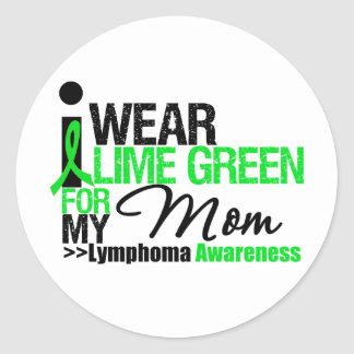 I Wear Lime Green For My Mom Sticker