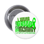 I Wear Lime Green For My Mommy 6.4 Lymphoma 2 Inch Round Button