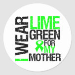 I Wear Lime Green For My Mother Lymphoma Stickers