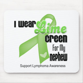 I Wear Lime Green For My Nephew - Lymphoma Mouse Pad