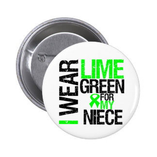 I Wear Lime Green For My Niece Lymphoma 2 Inch Round Button