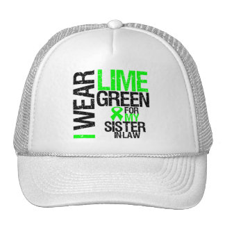 I Wear Lime Green For My Sister-in-Law Lymphoma Hat