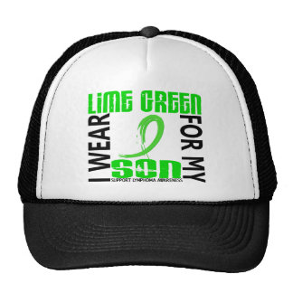 I Wear Lime Green For My Son 46 Lymphoma Hat