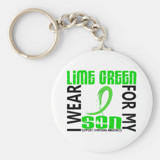 I Wear Lime Green For My Son 46 Lymphoma Key Chain